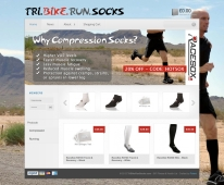 Tri Bike Run Socks