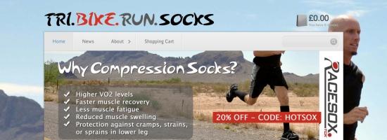 Tri Bike Run Socks